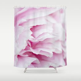 Pink Flower Petals Shower Curtain