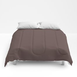 Dunn & Edwards 2019 Trending Colors Dark Chocolate Brown DE6014 Solid Color Comforters