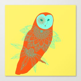 Owlmandala Canvas Print
