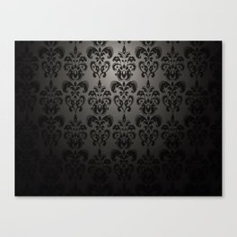 Sophisticated Black Pattern Canvas Print