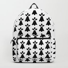 Black and White Ermine Spots French Country Print Backpack