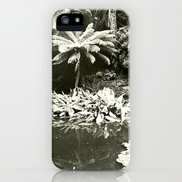 The Lost Gardens of Heligan in Black and White iPhone Case