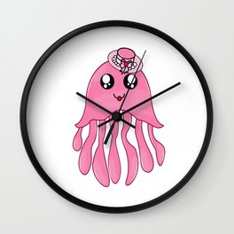 Pinky Lady JellyFish Wall Clock