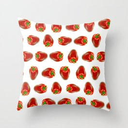 Red peppers pattern Throw Pillow