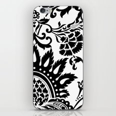 Damask in black and white iPhone & iPod Skin