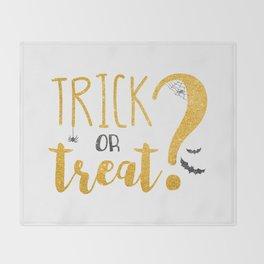 Trick Or Treat?   Glitter Throw Blanket