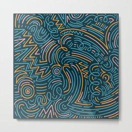 squiggle wiggles 002 Metal Print