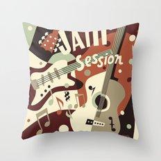 Guitar Music abstract Throw Pillow