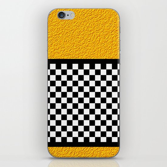 Checkered/Textured Gold iPhone & iPod Skin
