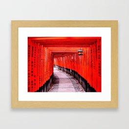 Through the Gates (Kyoto, Japan) Framed Art Print