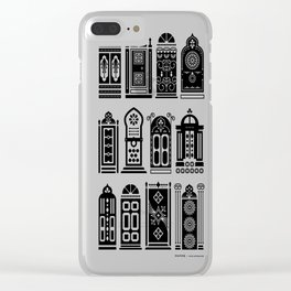 Moroccan Doors – Black Palette Clear iPhone Case
