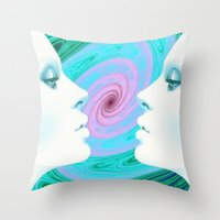 psychedelic Throw Pillows featuring Psychedelic by Emi Nellenbach