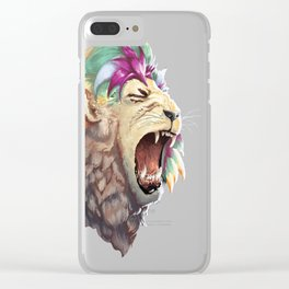 Rainbow Lion Clear iPhone Case