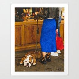 PHOTOGRAPHY - Bored dog Art Print