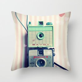 Vintage Camera Love: Imperial Cameras United Throw Pillow