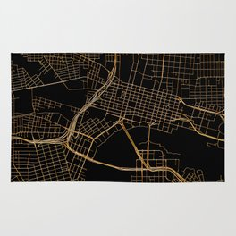 Black and gold Jacksonville map Rug