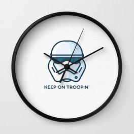Keep on Troopin' Wall Clock