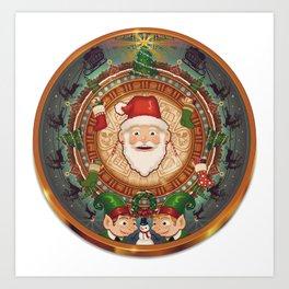 Happy Mayan Holidays Art Print