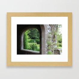 Through the Archway Framed Art Print