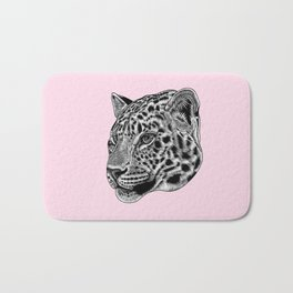 Amur leopard cub - pink - big cat Bath Mat
