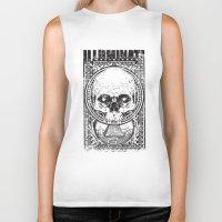illuminati Biker Tanks featuring Illuminati by Tshirt-Factory