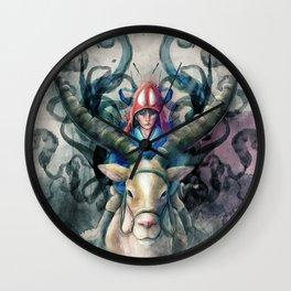 Ashitaka Demon Watercolor Digital Painting Wall Clock