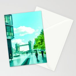 The South Bank Near Tower Bridge Stationery Cards