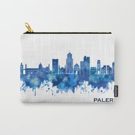 Palermo Italy Skyline Blue Carry-All Pouch