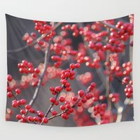 sparkles Wall Tapestries featuring Christmas Sparkles by BACK to THE ROOTS