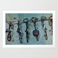 bicycles Art Prints featuring Bicycles by Thomas Whitaker