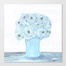 Boho still life flowers in vase Canvas Print