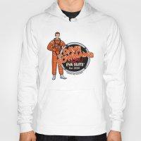 suits Hoodies featuring Dr. Dave Bowman's EVA Suits by Doodle Dojo