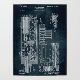 1900 - Automatic gun patent art Poster