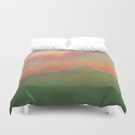 Fiery Morning Duvet Cover