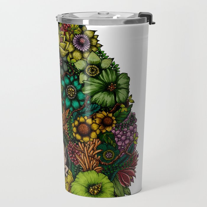 "Floral Uterus ""緑(ROKU)"" Travel Mug"