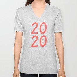 2020 Unhappy Emoji Year Unisex V-Neck