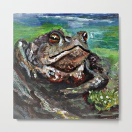 Cute little frog painting Metal Print