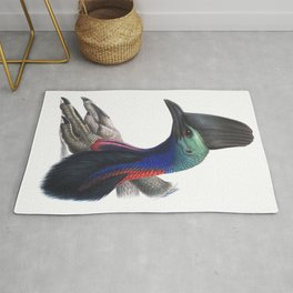 Southern Cassowary, tropical bird in the nature of Australia, New Zealand & Indonesia Rug