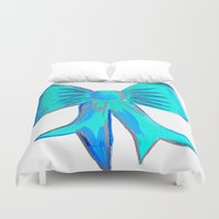 bows Duvet Covers featuring Bows by Samaa Ahmed
