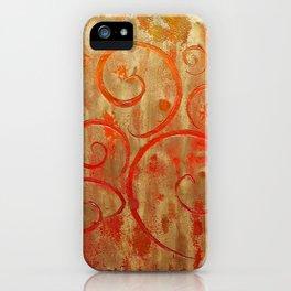 Pompeii Red (encaustic painting) iPhone Case