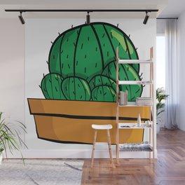 Cactus familia Majeran Illustration Wall Mural