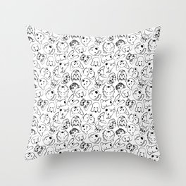 Dogs pattern Throw Pillow