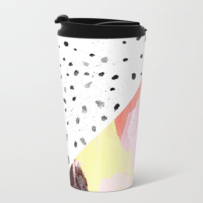 Polka Dots & Paint Metal Travel Mug