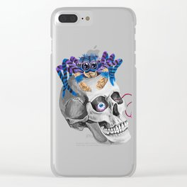 Skull Spider Clear iPhone Case