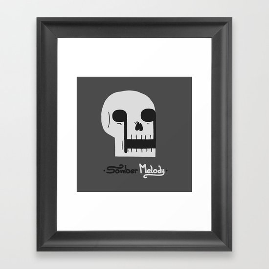 Somber Melody Framed Art Print