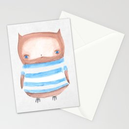 Owl in Stripes Stationery Cards