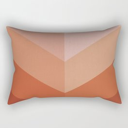 Chevron Geometry 3. Terracotta Rectangular Pillow