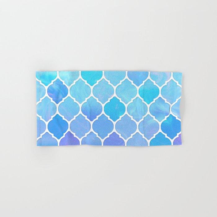 Blue and purple glass Moroccan print Hand & Bath Towel