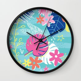 Tropical Vibes Wall Clock