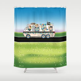 Quiltmobile Shower Curtain
